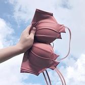 前扣內衣女夏季小胸聚攏美背無鋼圈文胸上托調整型收副乳胸罩薄款 【中秋節】