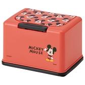 小禮堂 迪士尼 米奇 按壓彈蓋兒童口罩盒 (紅大臉款) 4973307-54504