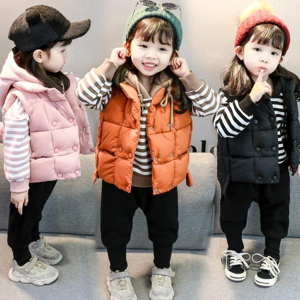 全館83折 長袖T恤女童加絨衛衣2018新款1-3歲5秋冬韓版洋氣女寶寶冬季加厚馬甲馬夾套裝