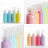 PGS7 人氣推薦商品 - 糖果色 旅行用品 分裝罐 組合 翻蓋款 噴霧款 旅行組 分裝瓶【SWZ71143】