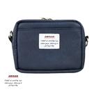 藍色皮革兩用隨身小包(小)  腰包/肩背包   AMINAH~【am-0266】