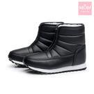 超保暖防水加厚時尚短筒雪靴 黑 *MOM...