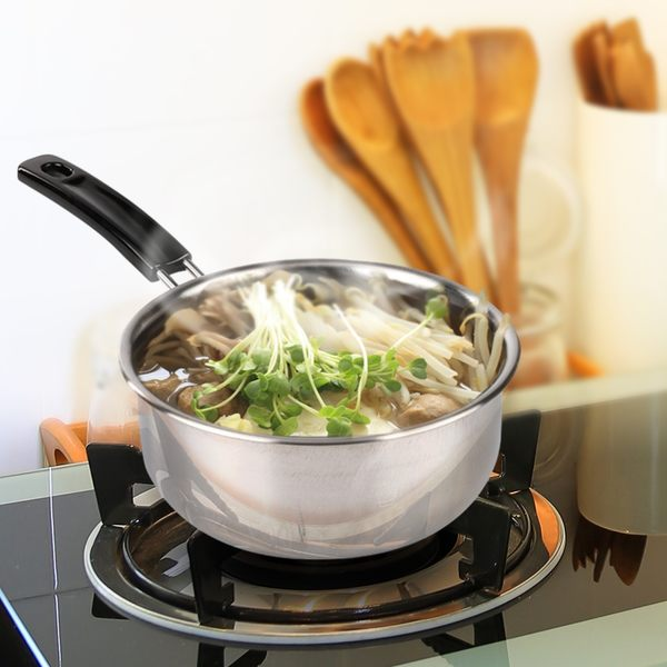 HIKARI日光生活-H002-2艾爾福特單把不鏽鋼湯鍋18cm