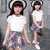 童裝夏裝2018新款女童套裝兒童裙子兩件套夏季短袖中大童休閒套裝 易貨居