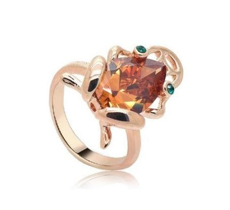 金蟾麻將女水晶戒指食指指環 個性時尚設計獨特