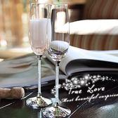 水晶鉆石紅酒杯高腳杯香檳杯禮盒婚慶送結婚禮物品