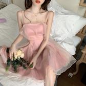 吊帶裙法式仙女吊帶連身裙2020新款夏季小個子短款收腰顯瘦洋氣禮服裙子 雙11 伊蘿