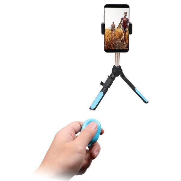 多功能手機 運動相機三腳架自拍桿 For Gopro小蟻配件 藍芽遙控器