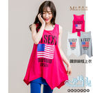 *孕婦裝*台灣製清涼無袖下擺不規則國旗圖案孕婦上衣 三色----孕味十足【COI0035】
