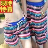 情侶款海灘褲(單件)-防水衝浪民族風格傳統魅力男女短褲66z49【時尚巴黎】