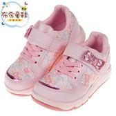 《布布童鞋》Moonstar日本花漾粉色兒童機能運動鞋(15~19公分) [ I9C374G ]