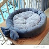 狗窩小型犬中型犬泰迪圓窩貓窩寵物用品秋冬四季可拆洗