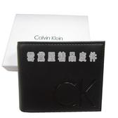 雪黛屋CK 短夾國際   防水防刮皮革 尺寸內暗釦蓋式零錢袋附品證品牌 K2274