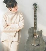 吉他 安德魯一代38寸吉他初學者學生新手入門41寸女男生民謠吉它樂器 WJ 中秋節