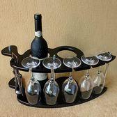 紅酒架 特價促銷木制酒架紅酒架創意歐式葡萄實木酒架酒杯架倒掛酒櫃擺件  WD 夢幻衣都