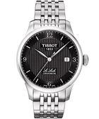 TISSOT 天梭 Le Locle 機械手錶-黑/銀 T0064081105700