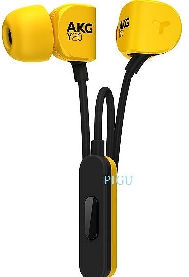 平廣 送收納袋 台灣愛科公司貨保固1年 AKG Y20U Y20 U 黑黃色 單鍵麥克風 耳道式 耳機
