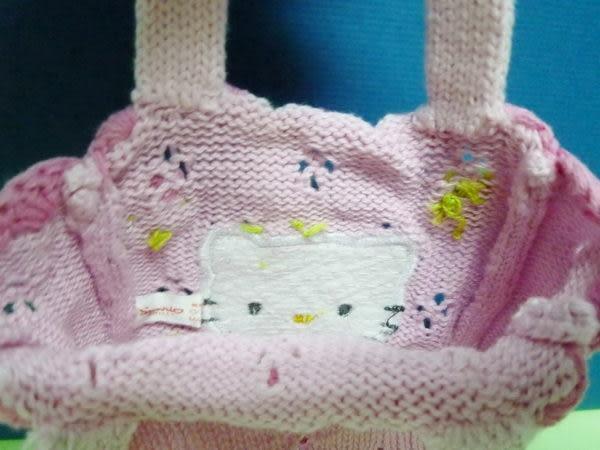 【震撼精品百貨】Hello Kitty 凱蒂貓~針織迷你手提袋『鬱金香』
