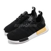 【六折特賣】adidas 休閒鞋 NMD_R1 黑 金 女鞋 運動鞋 襪套式 【ACS】 EG6702