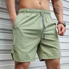休閒短褲 LVFT新品寬鬆健身男籃球四分褲速干梭織彈力運動短褲型男夏季薄款