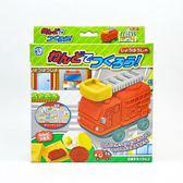 日本 Gincho 銀鳥 無毒粘土 小麥黏土3色入附模具組-消防車(2230)   -超級BABY