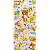 日本正版懶懶熊可愛換裝造型泡綿貼紙組(草地)575959【玩之內】