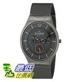 [104美國直購] Skagen 男士手錶 SKW6146 Grenen Gunmetal-Tone Titanium Watch with Mesh Band $5676