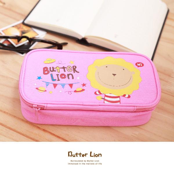 【雄獅】 PB-306 奶油獅雙層筆袋 (粉紅色)