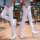 青少年正韓男裝彈力牛仔褲男小腳修身型男褲新款休閒長褲子潮 探索先鋒