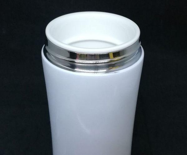 骨瓷 內膽真陶瓷 陶瓷保溫杯 陶瓷保溫瓶360ML  內膽一體成形.無接縫 陶瓷保溫杯 陶瓷保溫瓶