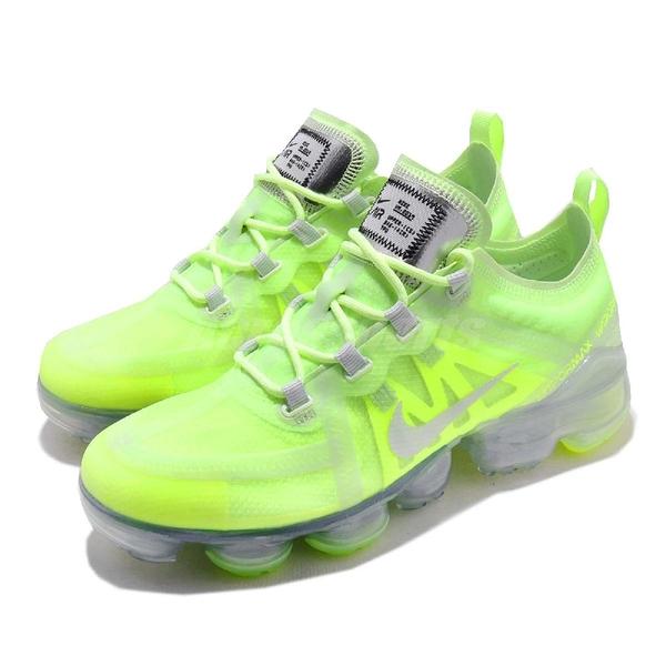 【五折特賣】Nike Wmns Air Vapormax 2019 綠 螢光綠 大氣墊 彈力編織鞋面 慢跑鞋 女鞋【PUMP306】 AR6632-700