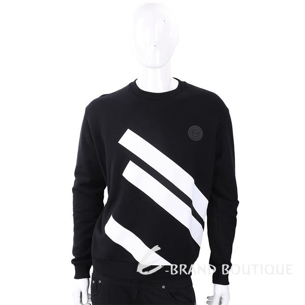Versus Versace 經典徽章撞色條紋黑色長袖運動衫 1810157-37