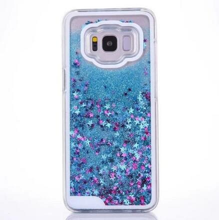 【SZ24】三星S8 plus手機殼 星星流沙 液體流動 透明硬殼 S8手機殼