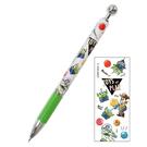 KAMIO 透明筆桿自動鉛筆 0.5mm 迪士尼 玩具總動員 朋友 手繪風 球 綠_KM63556