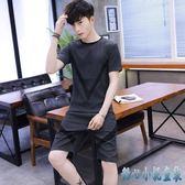 夏季新款大碼男休閒運動兩件套裝學生韓版潮流帥氣短袖短褲兩件式褲裝LXY3103 甜心小妮童裝