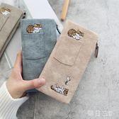 繡花貓咪圖案大容量搭扣可裝手機口袋裝飾女包 zm5517【每日三C】