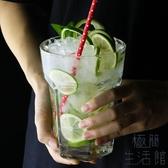 餐廳冷飲杯800ml超大玻璃杯 果汁杯水果茶杯莫吉托杯【極簡生活】