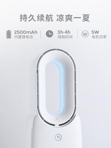 無葉風扇便攜式宿舍靜音小型電風扇辦公室桌面USB小風扇