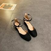 包頭涼鞋女仙女風2020新款夏季韓版網紅粗跟高跟鞋一字扣帶時裝鞋新品上新