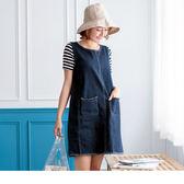 《DA3571》親子裝系列~正反兩穿抽鬚單寧連身裙‧女1色 OrangeBear