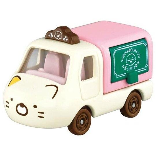小禮堂 TOMICA多美小汽車 角落生物 造型小貨車 食物攤車 玩具車 模型車 (黃 貓咪) 4904810-16240
