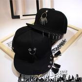 棒球帽夏季男平沿帽韓版嘻哈帽棒球帽子「潮咖地帶」