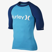 Hurley  - ONE & ONLY S/S RASHGUARD 防磨衣-T恤 - 男(海水藍)