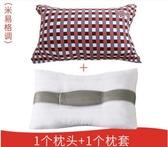 一隻裝帶枕套可水洗決明子枕頭枕芯
