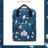 後背包酷個性提手背包休閒百搭書包旅行包大容量【聚可愛】