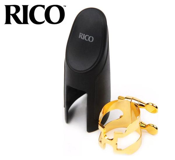 【小麥老師樂器館】束圈 + 吹嘴蓋 RICO HTS1G H型 次中音薩克斯風 鍍金 Tenor Sax RC078