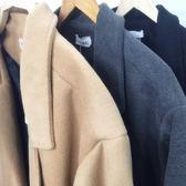 秋冬季新款中長款小個子呢子大衣