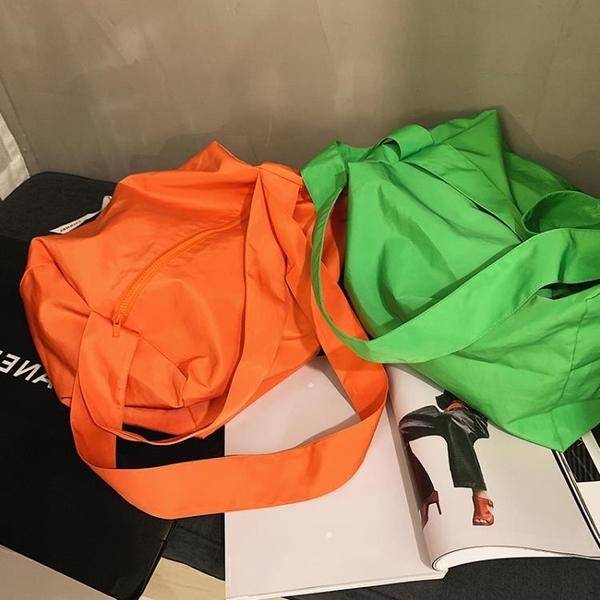 單肩包女2021新款歐美時尚純色斜挎包大容量簡約手提小方包 【夏日新品】