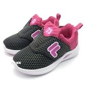 《7+1童鞋》FILA 7-J852T-055   輕量好穿   炫彩反光  飛機鞋    運動鞋 4256   桃色