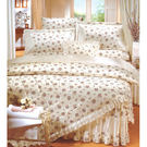 {{ 海中天休閒傢俱廣場 }}C31 床罩系列 R7026花彩饗宴-米 【七件式棉製床罩組】